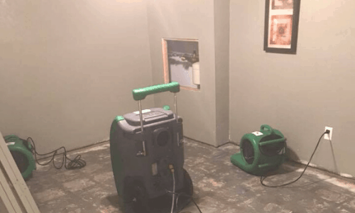 Surge Construction Water Damage Restoration in Basement