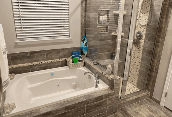 Surge Construction and Restoration Bathroom Remodel after